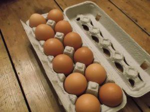 Patured local eggs