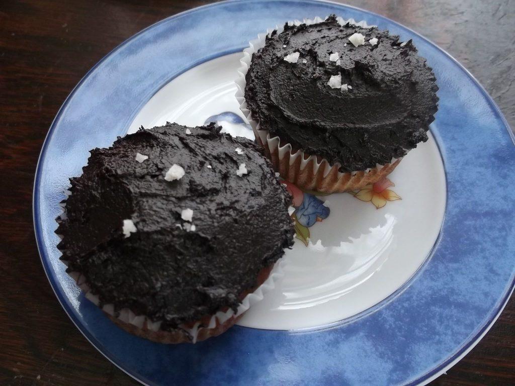 NE_Paleo vanilla cupcakes with Fleur de Sel chocolate frosting