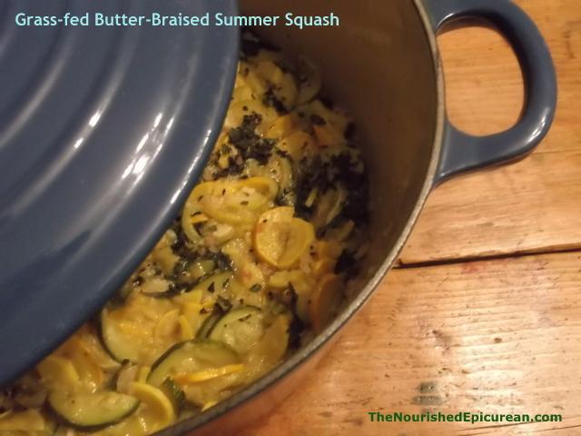 Grass-fed Butter-Braised Summer Squash