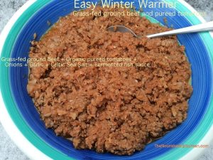 Fermented tomato ground beef