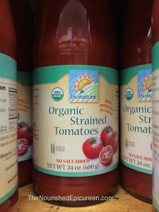 Bionaturae organic strained tomatoes