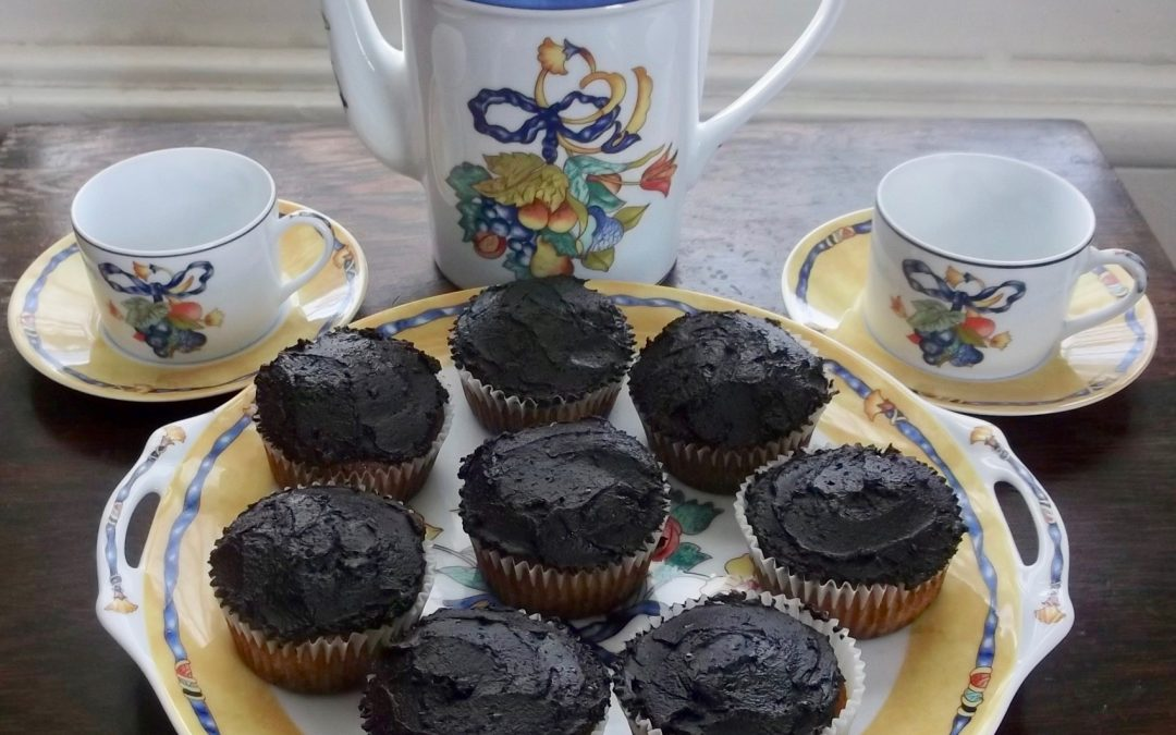 Gluten-Free Vanilla Cupcakes with Chocolate Frosting