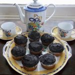 Paleo Vanilla Cupcakes with Chocolate Frosting & tea