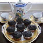 Paleo Vanilla Cupcakes with Chocolate Frosting & tea