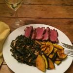 Braised lacinato kale chiffonade