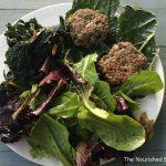 The Nourished Epicurean_Lamb Burgers & Kale Wrap