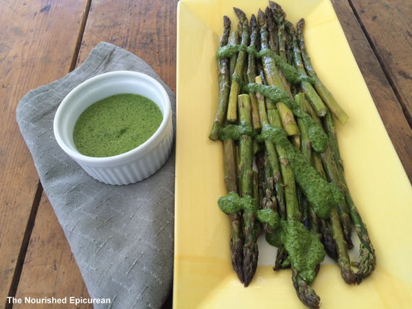 The Nourished Epicurean_Asparagus with Chimichurri