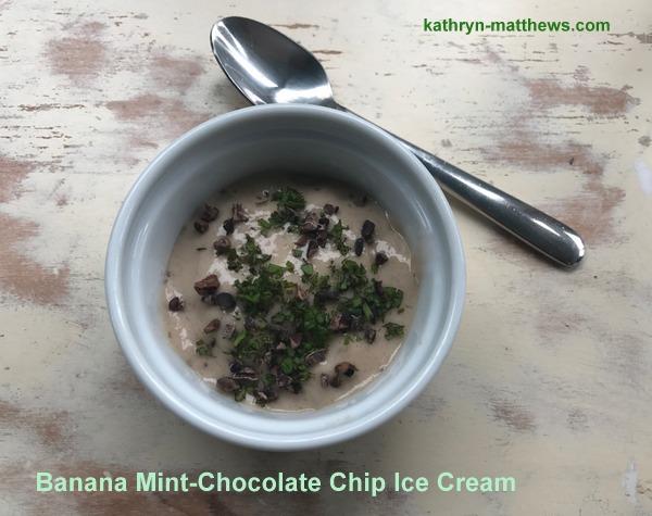Banana Mint-Chocolate Chip Ice Cream