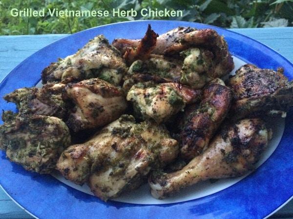 Vietnamese Herb Chicken, Grilled