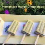 Homemade Mango Ginger Popsicles