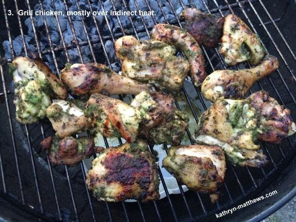 Vietnamese Herb Chicken, Grill