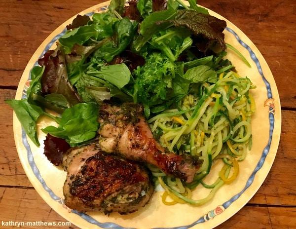 Vietnamese Herb Chicken + Zoodles + Greens