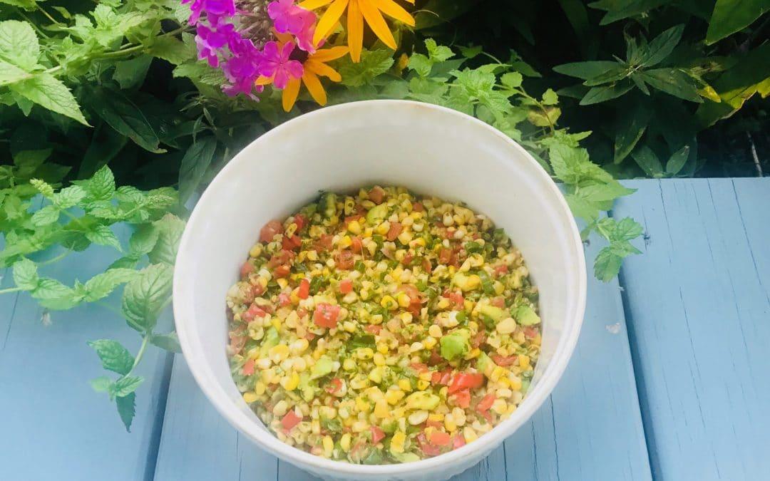 Fresh Corn Salad with Cumin-Lime Vinaigrette