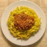 Yellow Squash Zoodles + Bolognese Ragu