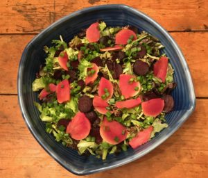 Winter Salad with Roasted Root Vegetables