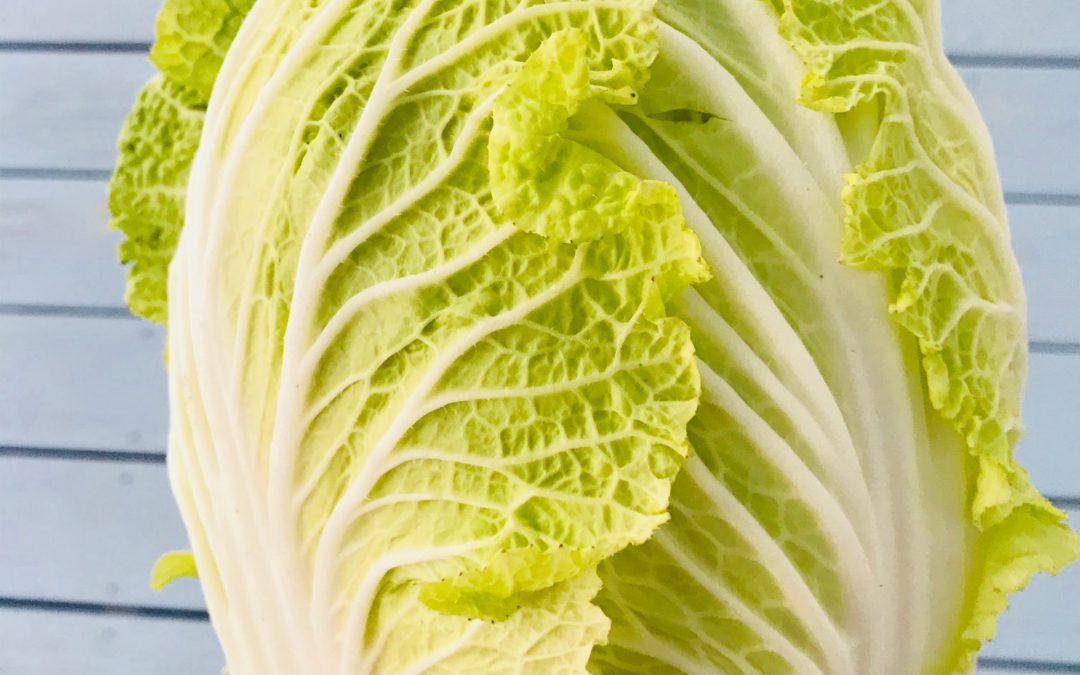 Braised Napa Cabbage with Sesame Oil