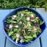Arugula salad with radish