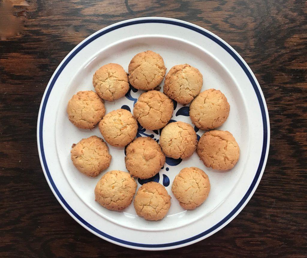 Lemon Ginger Cookies Plate